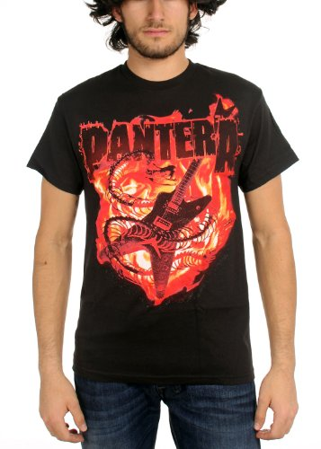 Pantera Guitar Snake Black Adult T-shirt Tee