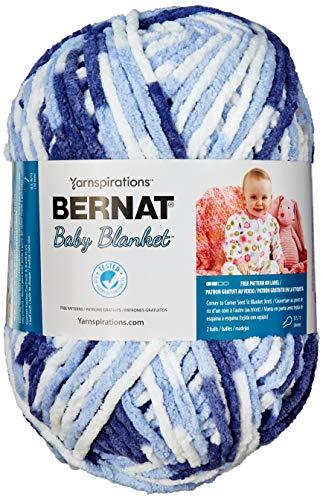 Bernat Baby Blanket Big Ball Yarn (04134) Blue Dream