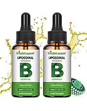 Liposomal vitamin B-komplex vätska, MAX-absorption, innehåller vitaminer B1, B2, B3, B5, B6, B12, biotin och folat, immunsystem och energi 60ML