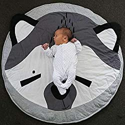 Carpet - Kawaii Animal Print Koala Panda Rabbit Fox Round Cotton Carpet Soft Sleeping Baby Play Mats Activity - Mop Tool Deodorizer Vaccums Grey Gliders Desk Drill Anti Knee