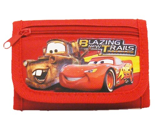 Price comparison product image Disney Car Red Tri-Fold Wallet with Flute