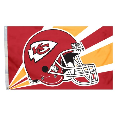 (Fremont Die NFL Kansas City Chiefs 3-by-5 Foot Helmet Flag)