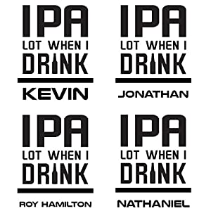 IPA Lot Personalized Funny Beer Glass by HomeWetBar | 20 oz. Novelty Personalized IPA Glass for the Craft Beer Lover in Your Life
