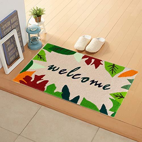 Flying Frog Indoor Doormat with Non-Slip - Autumn Leaves Welcome Indoor Mat - Sassafras Switch Mat - Door Mat for Inside Small Front Door Shoes Scraper - 31.5