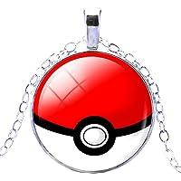 Inception Pro Infinite Pkmn - Pokeball Ball Pokemon Go Poke Necklace (Rojo - Blanco)