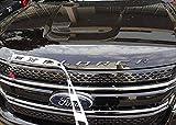 Automotive : Brand New Matte Metal Hood Letters Emblem,for Ford Explorer, not plastic,Black Silver,Car Head Cover English Letter Logo Car Decoration