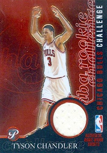 - Tyson Chandler player worn jersey patch basketball card (Chicago Bulls) 2003 Topps Rookie Challenge #PCTC