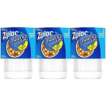 Ziploc Twist 'n Loc 32 oz Container 3 Pack, 2 Count