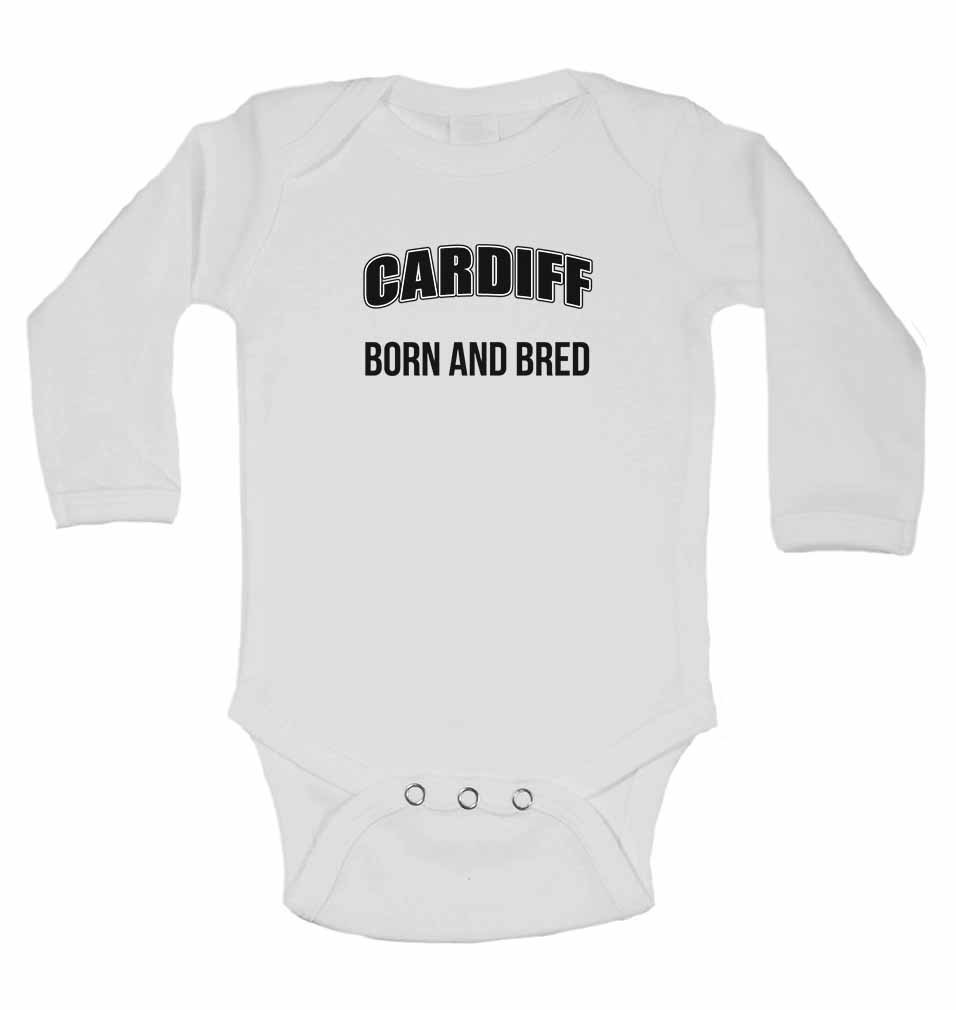 Girls New Long Sleeve Cotton Baby Vests for Boys Cardiff Born and Bred