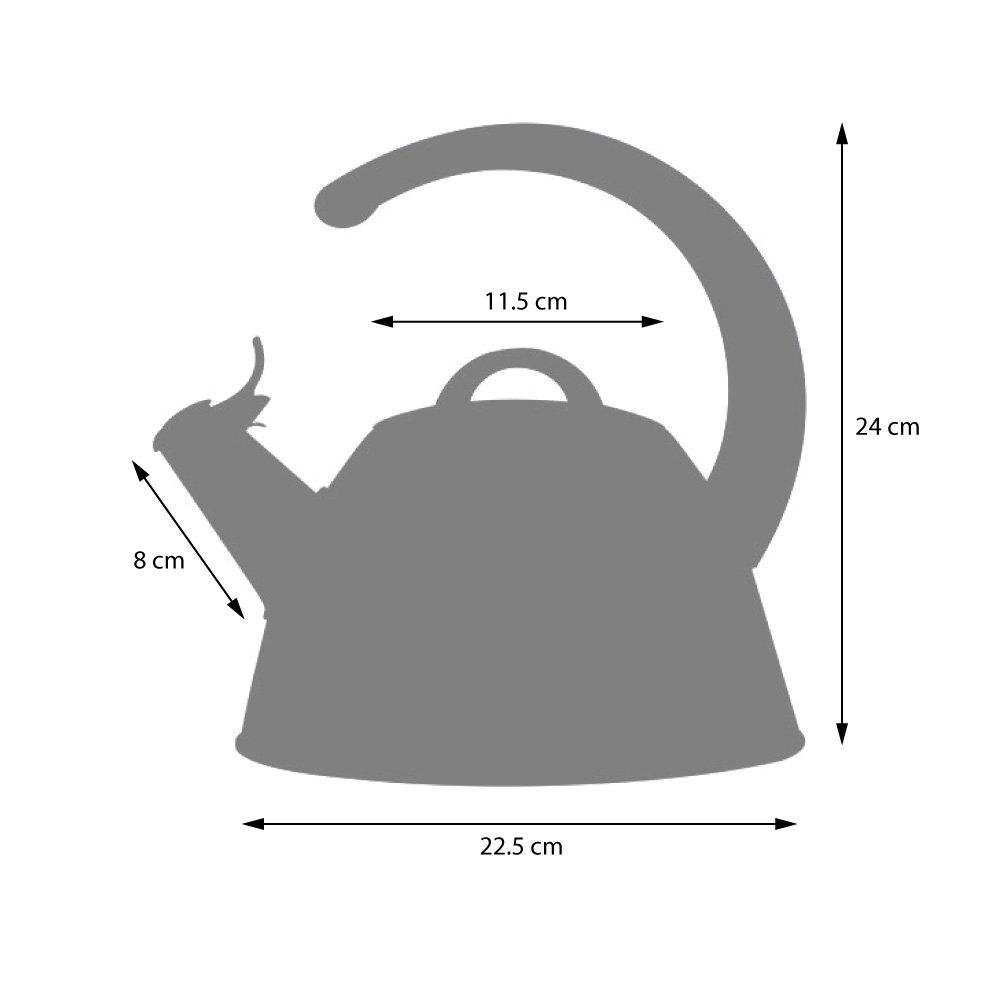 ProCook Bouilloire sifflante pour cuisini/ère Compatible Induction 2/l poign/ée en C Noire