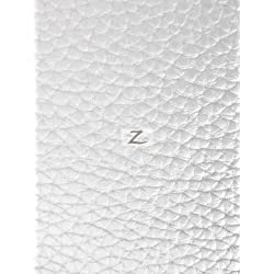 """VINYL FAUX FAKE LEATHER GRAIN TEXTURED PVC FABRIC - White - 55"""" WIDTH SOLD BY THE YARD"""