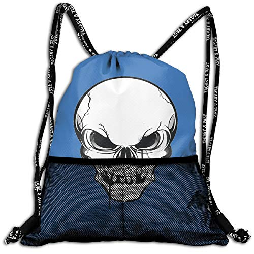 Drawstring Backpacks Skull Skeleton Tattoo Leisure Bundle Backpack Beam Backpack Sport Gym Travelling -