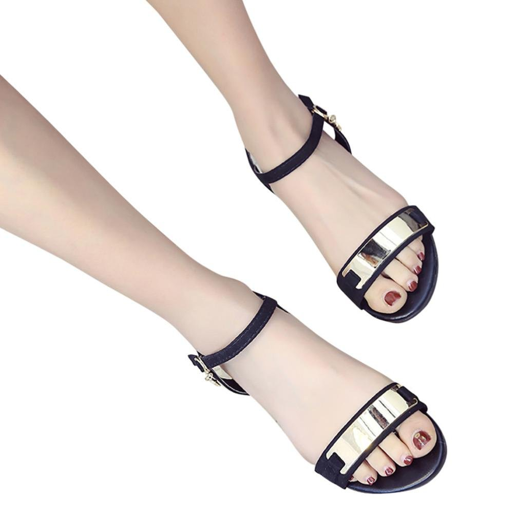 feiXIANG Mode frauen sandalen Sommer Peep toe Elegant Urlaub strand schuhe mit absatz37|Schwarz