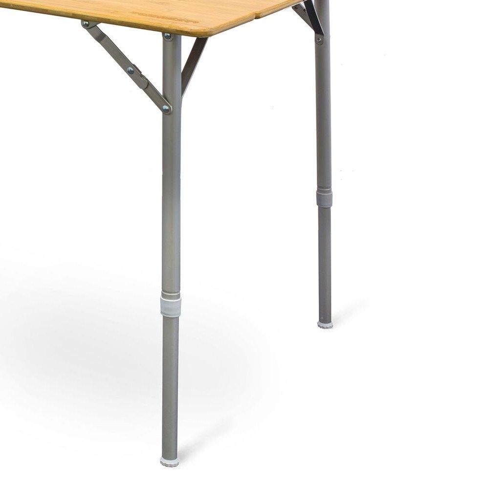 XL-Tragkraft bis 50Kg H/öhenverstellbar Tansporttasche 6 Personen Tisch Campingtisch XXL Design Bambusplatte integriertem Flaschen/öffner inkl