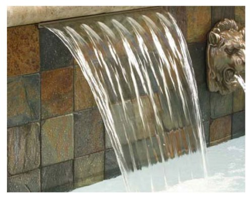 (Pentair 581401FSGBF Magicfalls Water Effect Super 13-Inch Lip Series Waterfall Sheet, Gray, 1-Feet)
