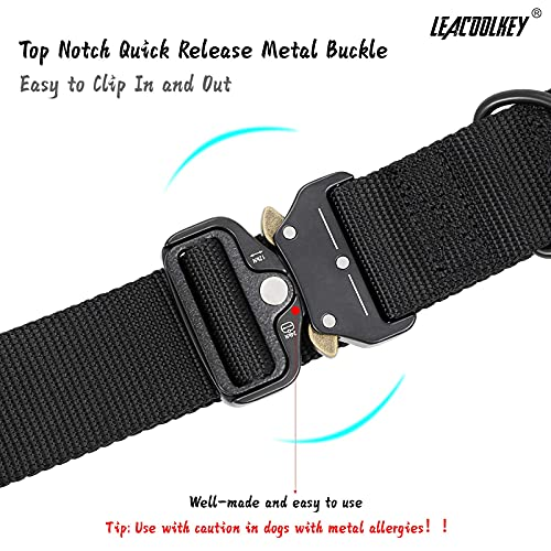 """Adjustable Dog Collar with Safety Quick Release Buckle, Breathable Pet Collar for Medium Large Dogs, 100% 1000D Nylon Webbing, 3 Colors, 3 Sizes, 1.5"""" Wide"""