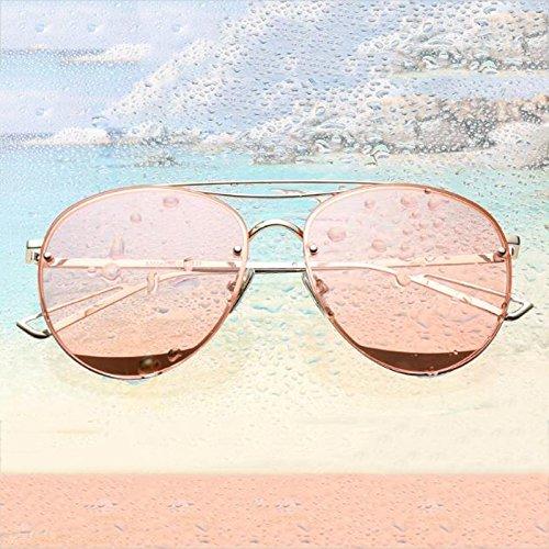 UVA WLHW Cara Silver mercury larga Resina polarizadas cherry de Rose Personalidad UVB sol frame Corea gold Gafas Resplandor powder frame Color FrXvxwFq