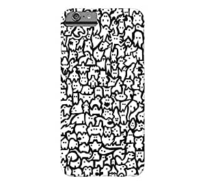 #209 (White) iPhone 6 Plus Black Barely There Phone Case - Design By Humans