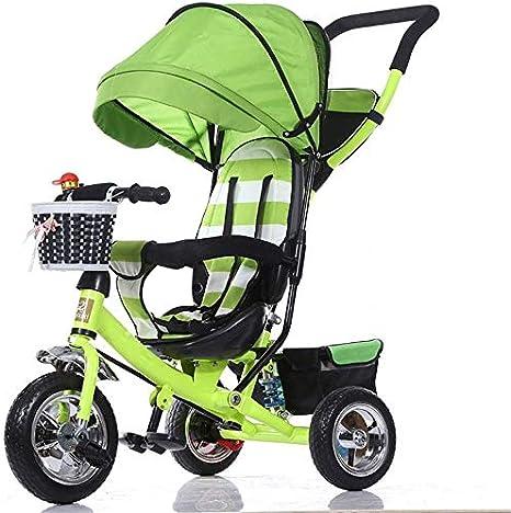 H.yina Triciclo Cochecito de bebé Bicicleta Niño Juguete Coche ...