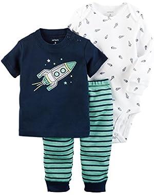 Carter's Baby Boys' 3 Piece Spaceship Set