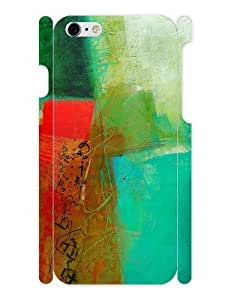 3d Full Wrap Case for iPhone 6 Abstract - Green And Red 4