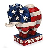Patriotic Pride. Republican Elephant Figurine. Part of the Heartwood Creek collection by Jim Shore. Made from stone resin. Approximately 4.4 inches tall (11 cm). Includes original manufacturers packaging - styrofoam. Made by Enesco. Colorfully decked...