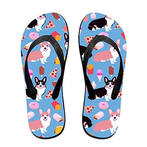 Unisex Non-slip Flip Flops Pizza And Hot Dog Cool Beach Slippers Sandal