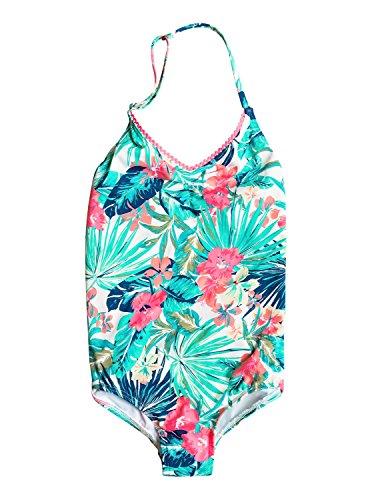 Roxy Big Girls' Jungle Poem One Piece Swimsuit, Marshmallow Tac O Tac Flower, 8
