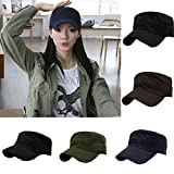 #10: Womens Mens Adjustable Cap Solid Cap Army Fisherman Hat