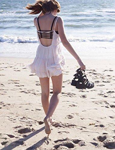 Camiseta De Tirantes Finos, BlueSterCool Mujer Verano Algodón Playa Correa Chaleco Negro