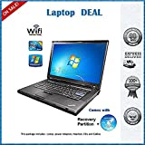 Lenovo Thinkpad T500 15.4-Inch Laptop -with Web CAM- Intel Core 2 Duo Processor - 4 GB DDR3 RAM- 160 GB SATA Hard Disk- DVD/ CD RW - Windows 7 Pro 64 Bit + Lenovo 90W Adapter
