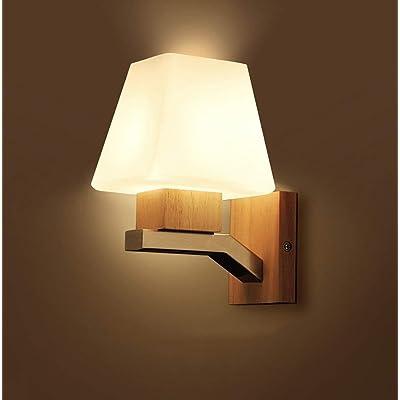 Haizhen Art En Bois Simple Led Lampe Murale Chambre Nordic Lampe De