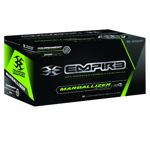 Empire Paintball Marballizer Paintballs, 2000 Count, Black/Green