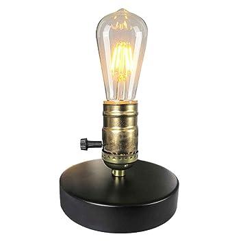 Amazon.com: RXM - Lámpara de mesa vintage de metal ...