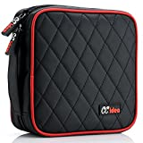 CCidea 40 Capacity CD/DVD Case Holder Portable Disc Wallet Storage Binder Nylon Exquisite Cd Bag (Black)