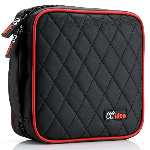(CCidea 40 Capacity CD/DVD Case Holder Portable Disc Wallet Storage Binder Nylon Cd Bag (Black) )