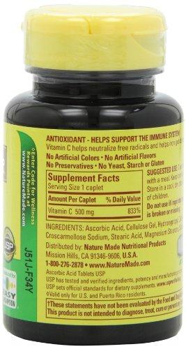 031604014858 - Nature Made Vitamin C 500 mg Synthetic, 100 ct carousel main 3