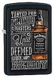 Zippo Lighter: Jack Daniel's, Tasted For Flavor - Black Matte 77187