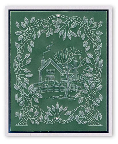 GRO40444 Groovi Embossing A5 Square ~ Leafy Frame