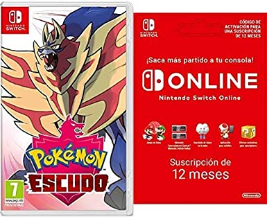 Pokémon Escudo [Switch Código de descarga] + Switch Online 12 Meses [Código de descarga]: Amazon.es: Videojuegos