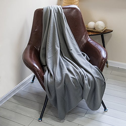 DOZZZ Fleece Couch Throw Oversized Microfiber Solid Light We