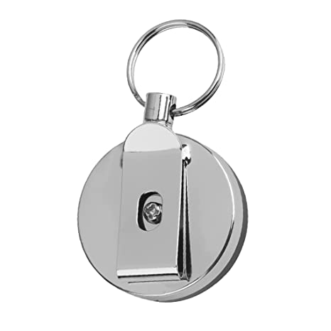 Generic 1 X Retractable Recoil Key Ring Silver + Black-15018523Mg Novelty & Gag Toys at amazon