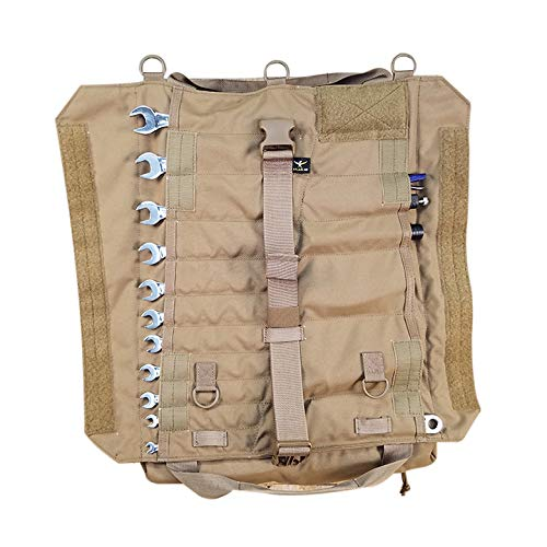 (Atlas 46 Yorktown Tool Roll, Coyote Brown | Made in the USA)