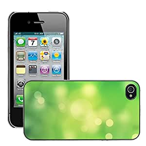 Super Stellar Slim PC Hard Case Cover Skin Armor Shell Protection // M00050794 green abstract digital light dots // Apple iPhone 4 4S