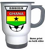 Michael Essien (Ghana) Soccer White Stainless Steel Mug