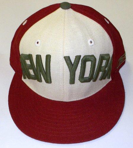 田舎大人フィヨルド新しいYork Giantsナチュラルフィットリネンリーボック帽子サイズ7