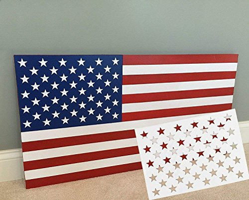 topus 9 pieces american flag 50 stars stencil template for painting