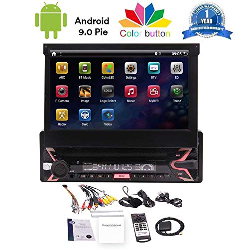 Single Din Car Radio Android 9.0 OS Pie Car Stereo with 7