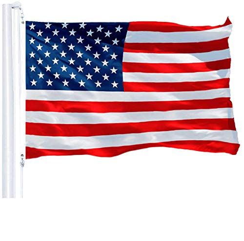 G128 - American Flag | 3x5 feet | Printed 150D - Indoor/Outdoor, Vibrant Colors, Brass Grommets, Quality Polyester, US USA Flag, Much Thicker More Durable Than 100D 75D Polyester