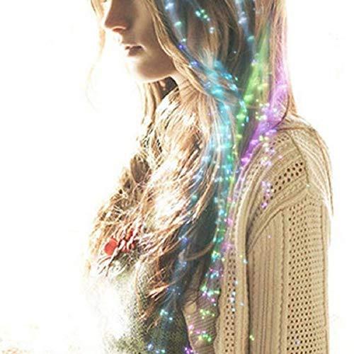 12pcs LED Multicolor Light Flashing Fiber Optic Hair Braid Barrettes Party Favors Party Pack Glowing hair braid barrettes